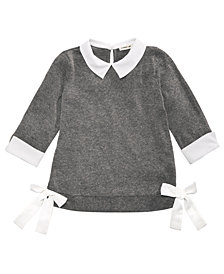 Monteau Layered-Look Side-Tie Top, Big Girls