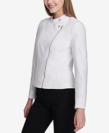 Calvin Klein Asymmetrical-Zip Moto Jacket
