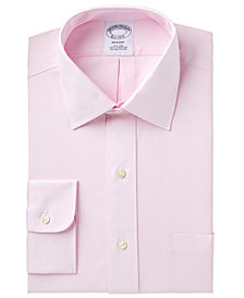 Brooks Brothers Men's Regent Slim-Fit Non-Iron Pink Stripe Dress Shirt