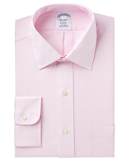 780c30babf74 ... Brooks Brothers Men s Regent Slim-Fit Non-Iron Pink Stripe Dress Shirt  ...