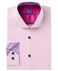 Michelsons of London Men's Slim-Fit Solid Dress Shirt