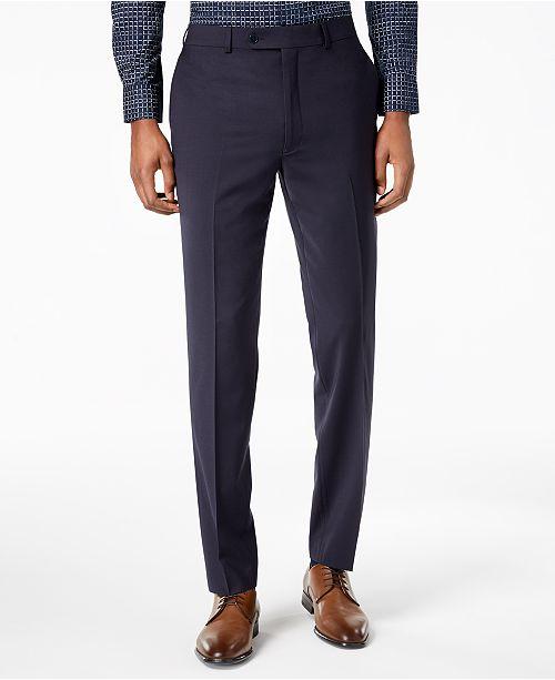 59ec9b937 ... Calvin Klein Men's Skinny-Fit Infinite Stretch Navy Suit Pants ...