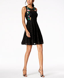 Thalia Sodi Embroidered Lace Dress, Created for Macy's