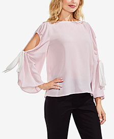 Vince Camuto Cutout Bell-Sleeve Top