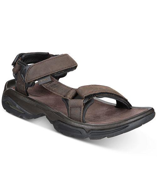 b384f267122c Teva Men s Terra Fi 4 Water-Resistant Leather Sandals   Reviews ...