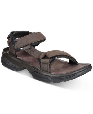 TEVA Men'S Terra Fi 4 Water-Resistant Leather Sandals Men'S Shoes in Turkish Coffee