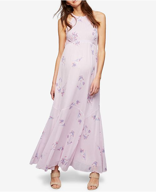 e24af4811fd A Pea in the Pod Maternity Floral-Print Maxi Dress   Reviews ...