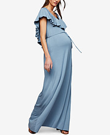 Rachel Pally Maternity Ruffled Maxi Dress
