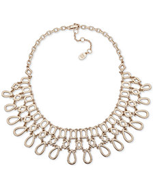 "Ivanka Trump Gold-Tone Openwork Statement Necklace, 16"" + 3"" extender"