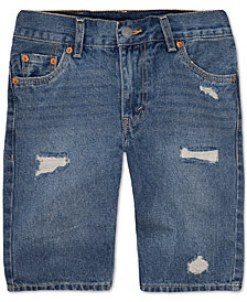 Levi's® 511 Distressed Cotton Denim Shorts, Toddler Boys