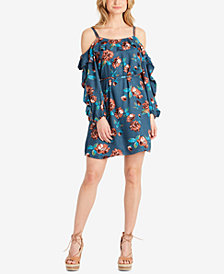 Jessica Simpson Bella Ruffled Cold-Shoulder Dress