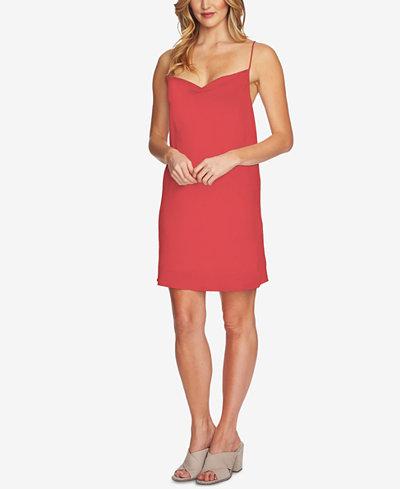 1.STATE Cowl-Neck Peekaboo Slip Dress