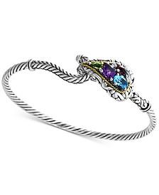 EFFY® Multi-Gemstone Bracelet (2-1/3 ct. t.w.) in Sterling Silver & 18k Gold