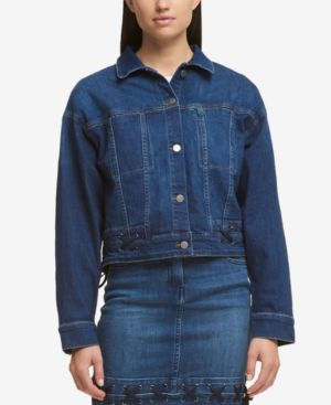 LACED DENIM JACKET, CREATED FOR MACY'S