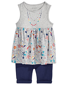 First Impressions Printed Tunic & Shorts Separates, Baby Girls, Created for Macy's