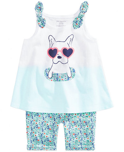 First Impressions Graphic-Print Tunic & Shorts Separates, Baby Girls. Created for Macy's