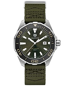Men's Swiss Aquaracer Olive Fabric Strap Watch 43mm