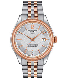 Tissot Men's Swiss Automatic T-Classic Ballade Two-Tone PVD Stainless Steel Bracelet Watch 39mm