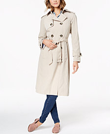 London Fog Double-Breasted Trench Coat