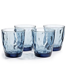 Diamond 4-Pc. Double Old Fashioned Glass Set