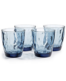 Bormioli Rocco Diamond 4-Pc. Double Old Fashioned Glass Set