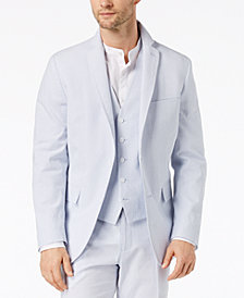 I.N.C. Men's Slim-Fit Stretch Seersucker Blazer, Created for Macy's