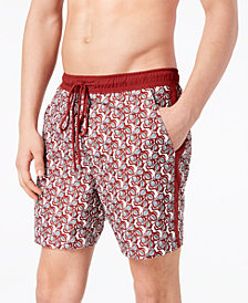 I.N.C. International Concepts Men's Printed Swim Trunks, Created for Macy's