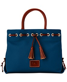 e646d3c8fe08 Dooney   Bourke Tassel Pebble Leather Tote. 10 colors