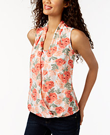 Charter Club Printed Layered-Look Top, Created for Macy's
