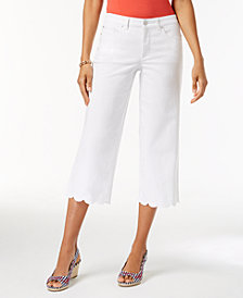 Charter Club Tummy-Control Wide-Leg Jeans, Created for Macy's
