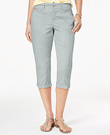 Style & Co Zipper-Pocket Capri Pants, Created for Macy's