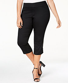 Lee Platinum Plus Size Slim Cropped Pull-On Pants