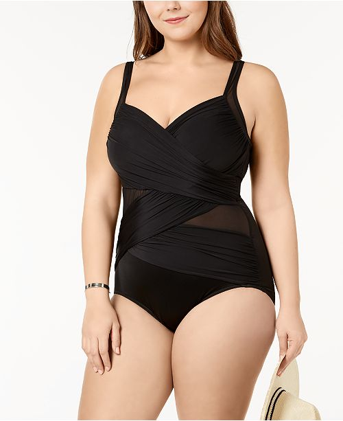 a8c458817ef ... Miraclesuit Plus Size Madero Underwire Tummy-Control One-Piece Swimsuit  ...