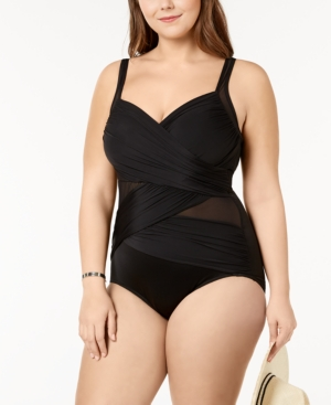 Miraclesuit PLUS SIZE MADERO UNDERWIRE TUMMY-CONTROL ONE-PIECE SWIMSUIT WOMEN'S SWIMSUIT