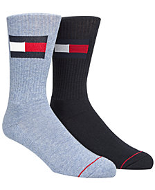 Tommy Hilfiger Men's 2-Pk. Logo Crew Socks