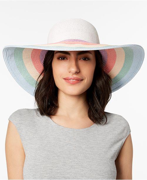 4e48f743dad August Hats Rainbow Floppy Hat - Handbags   Accessories - Macy s