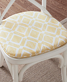 Madison Park Delray Textured Diamond-Print Chair Pad Pair
