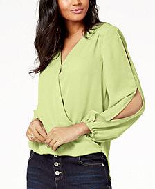 I.N.C. Petite Split-Sleeve Blouse, Created for Macy's