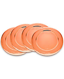 Godinger 4-Pc. Hammered Copper Charger Set