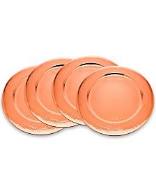 Godinger 4-Pc. Hammered Copper Charger Set