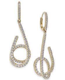 Danori Pavé Swirl Drop Earrings, Created for Macy's