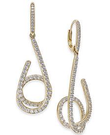 Danori Pavé Swirl Drop Earrings, Created for Macy's