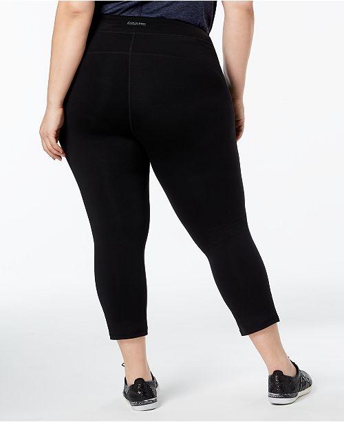 7344f8bbf67 Calvin Klein Plus Size Capri Leggings   Reviews - Pants   Capris ...