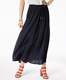 Style & Co Tie-Front Maxi Skirt, Created for Macy's
