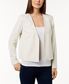 Eileen Fisher Silk Open-Front Jacket