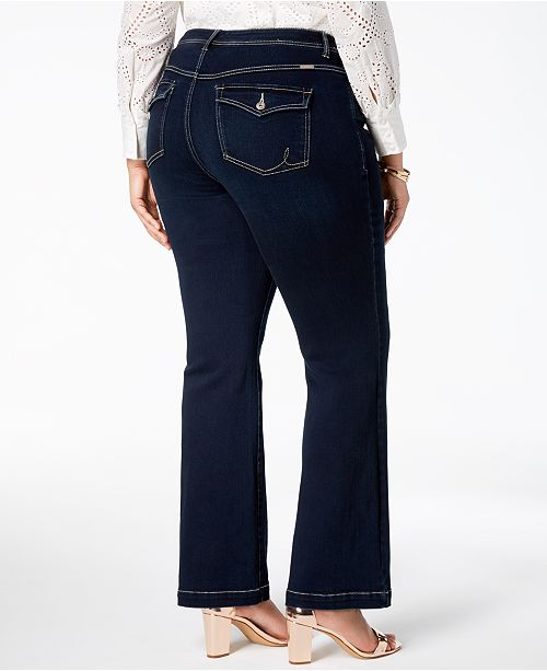 82da7d64e9 INC International Concepts I.N.C. Plus Size Tummy Control Bootcut Jeans