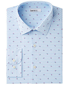 Bar III Men's Slim-Fit Stretch Easy-Care Watermelon Gingham Dress Shirt, Created for Macy's