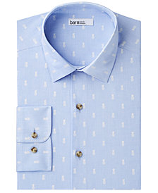 Bar III Men's Slim-Fit Stretch Easy-Care Pineapple Print Dress Shirt, Created for Macy's