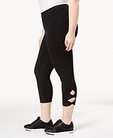 Calvin Klein Performance Plus Size High-Waist Cutout Cropped Leggings