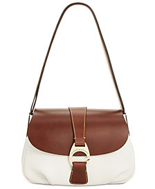 Dooney & Bourke Pebble Leather Flap Shoulder Bag